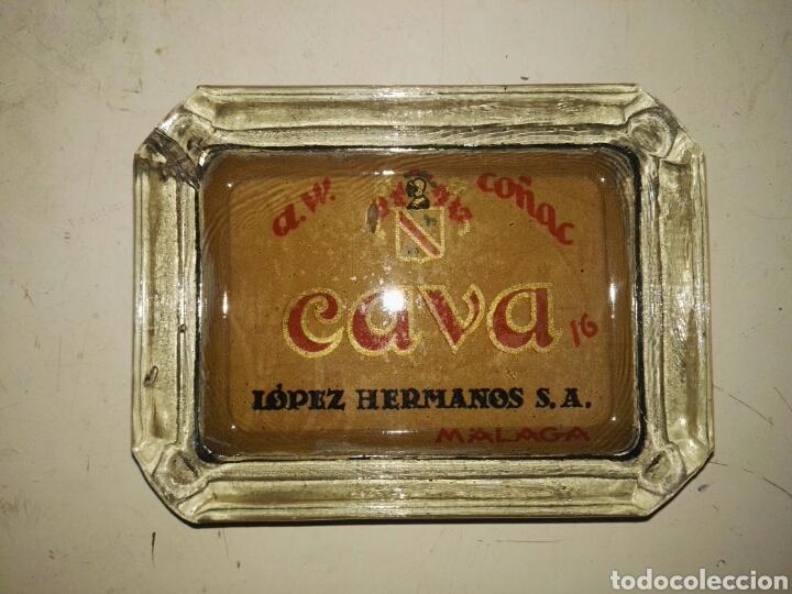 CENICERO A.W. COÑAC CAVA 16 LOPEZ HERMANOS S.A. MALAGA (Antigüedades - Hogar y Decoración - Ceniceros Antiguos)