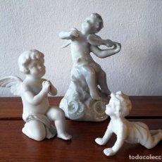 Antigüedades: LOTE DE 3 FIGURITAS ANTÍGUAS DE BISCUIT Y PORCELANA. Lote 116696883