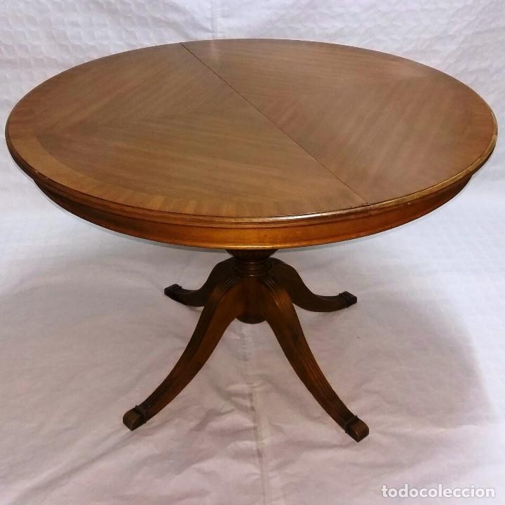 mesa redonda extensible embero