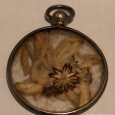 Antigüedades: ANTIGUO COLGANTE-RELICARIO DE PLATA. Lote 116705867