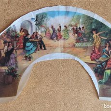 Antigüedades: ANTIGUO PAIS DE ABANICO. TELA SERIGRAFIADA. Lote 116707711