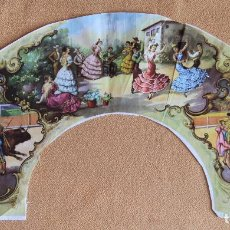 Antigüedades: ANTIGUO PAIS DE ABANICO. TELA SERIGRAFIADA. Lote 116707855