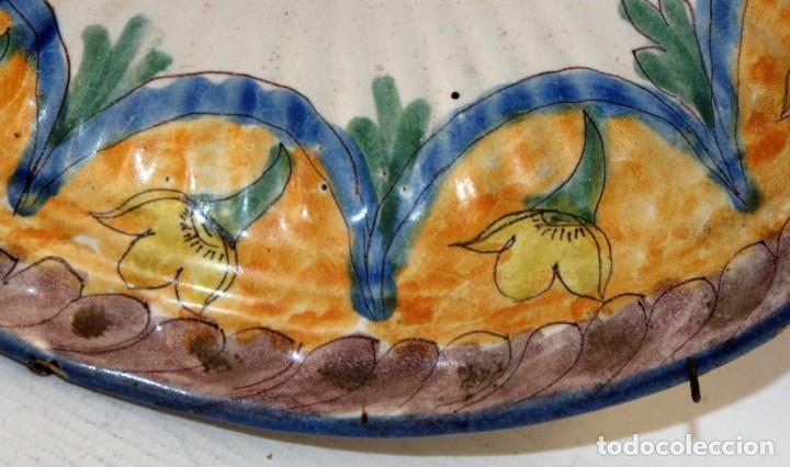 Antigüedades: ANTIGUO PLATO DE RIBESALBES DEL SIGLO XIX. MARCAS EN LA BASE - Foto 3 - 116724663