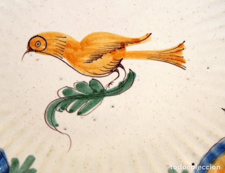 Antigüedades: ANTIGUO PLATO DE RIBESALBES DEL SIGLO XIX. MARCAS EN LA BASE - Foto 4 - 116724663
