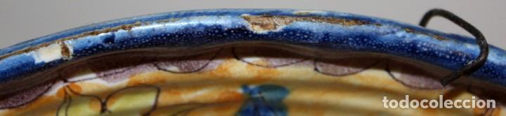 Antigüedades: ANTIGUO PLATO DE RIBESALBES DEL SIGLO XIX. MARCAS EN LA BASE - Foto 5 - 116724663