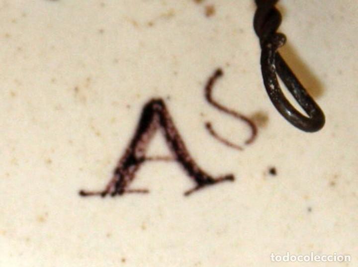 Antigüedades: ANTIGUO PLATO DE RIBESALBES DEL SIGLO XIX. MARCAS EN LA BASE - Foto 7 - 116724663