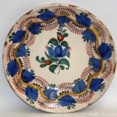 Antigüedades: ANTIGUO PLATO DE RIBESALBES DEL SIGLO XIX. MARCAS EN LA BASE. Lote 116724799