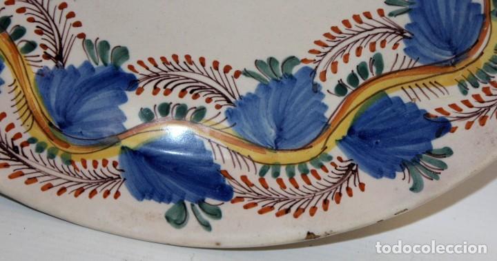 Antigüedades: ANTIGUO PLATO DE RIBESALBES DEL SIGLO XIX. MARCAS EN LA BASE - Foto 2 - 116724799