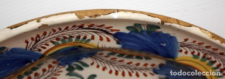 Antigüedades: ANTIGUO PLATO DE RIBESALBES DEL SIGLO XIX. MARCAS EN LA BASE - Foto 3 - 116724799