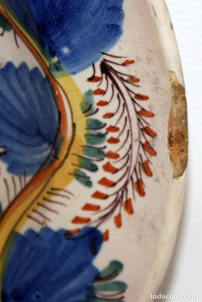 Antigüedades: ANTIGUO PLATO DE RIBESALBES DEL SIGLO XIX. MARCAS EN LA BASE - Foto 4 - 116724799