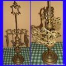 Antigüedades: ANTIGUO QUINQUE LAMPARA DE ACEITE ENBRONCE 77 CM 4 FUEGOS, 2 PANTALLAS REGULABLES Y 4 ELEMENTOS. Lote 116729883