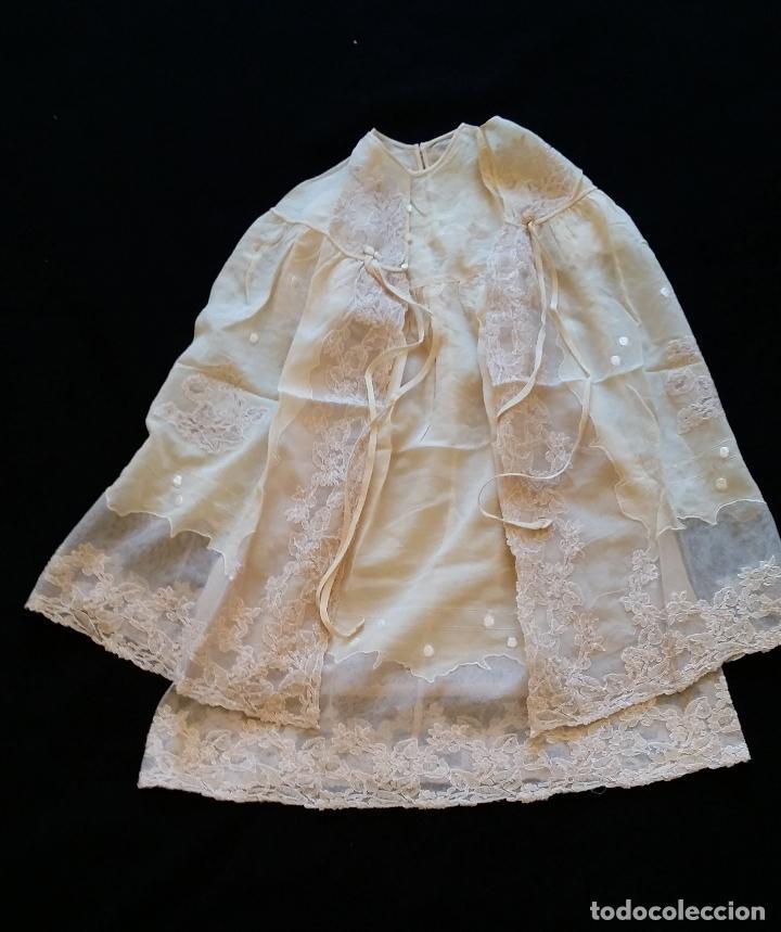 ANTIGUO TRAJE DE CRISTIANAR / BAUTISMO: CAPA Y FALDÓN (Antigüedades - Moda y Complementos - Infantil)