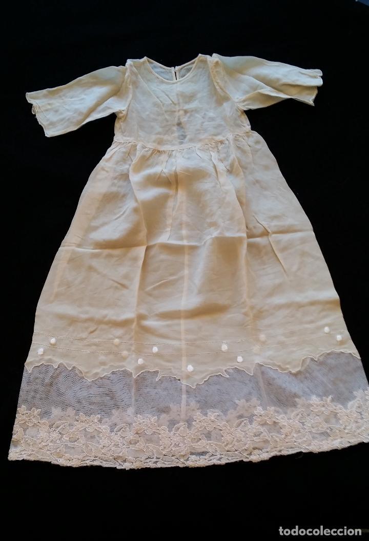 Antigüedades: Antiguo traje de cristianar / bautismo: capa y faldón - Foto 12 - 155052881