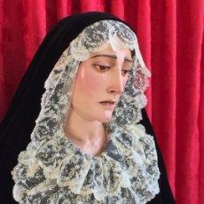 Antigüedades: TALLA VIRGEN DOLOROSA MADERA. Lote 116735663