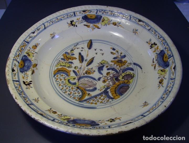 Antigüedades: ROTUNDO Y GRAN PLATO DE TRIANA XVIII - Foto 2 - 116740691