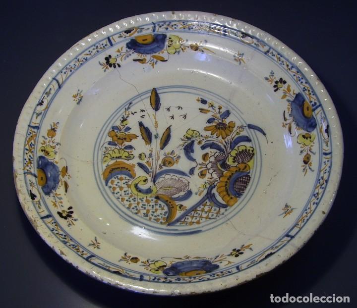 Antigüedades: ROTUNDO Y GRAN PLATO DE TRIANA XVIII - Foto 3 - 116740691
