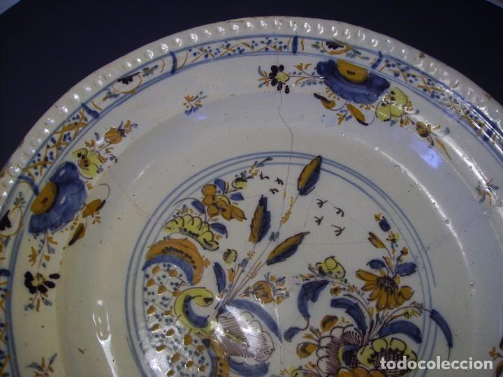 Antigüedades: ROTUNDO Y GRAN PLATO DE TRIANA XVIII - Foto 5 - 116740691