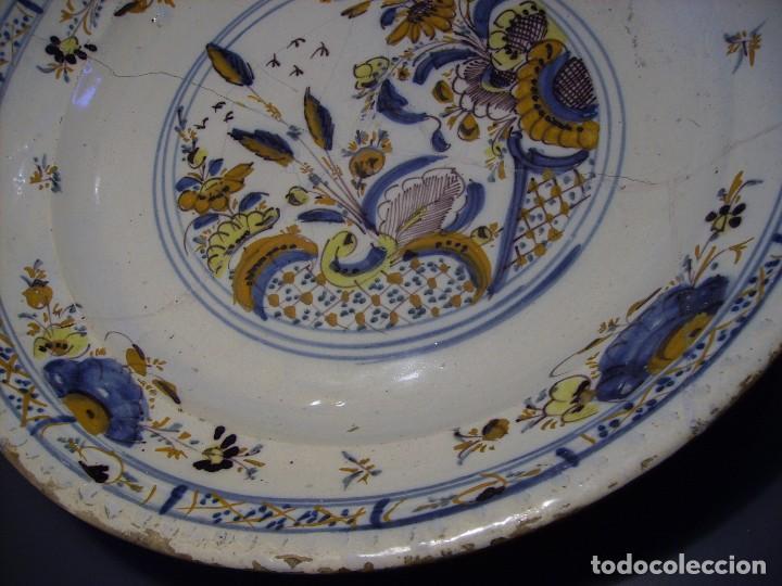 Antigüedades: ROTUNDO Y GRAN PLATO DE TRIANA XVIII - Foto 8 - 116740691