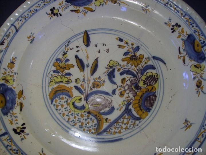 Antigüedades: ROTUNDO Y GRAN PLATO DE TRIANA XVIII - Foto 10 - 116740691