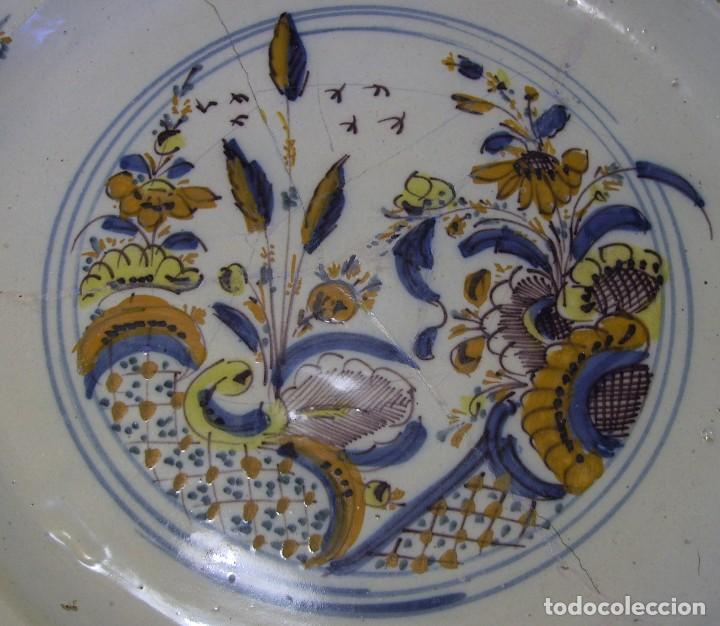Antigüedades: ROTUNDO Y GRAN PLATO DE TRIANA XVIII - Foto 11 - 116740691