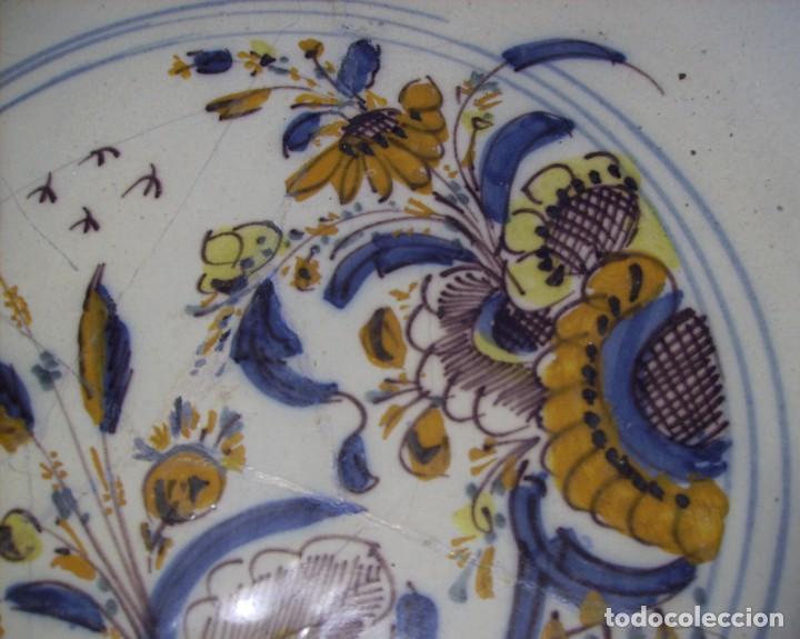 Antigüedades: ROTUNDO Y GRAN PLATO DE TRIANA XVIII - Foto 13 - 116740691