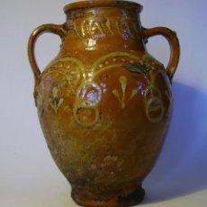 Antigüedades: ROTUNDA JARRA DE CERÁMICA XIX . Lote 116740795
