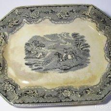 Antigüedades: BANDEJA CERÁMICA DE CARTAGENA XIX . Lote 116741015