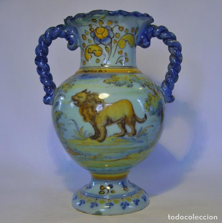 JARRÓN CERÁMICA DE TALAVERA ( JUAN RUIZ DE LUNA ) (Antigüedades - Porcelanas y Cerámicas - Talavera)