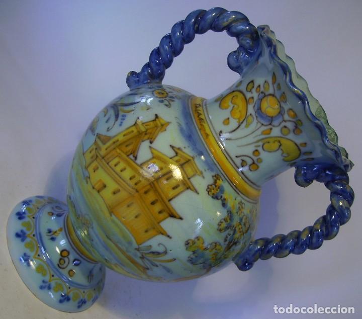 Antigüedades: JARRÓN CERÁMICA DE TALAVERA ( JUAN RUIZ DE LUNA ) - Foto 12 - 116741343