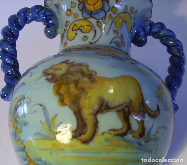 Antigüedades: JARRÓN CERÁMICA DE TALAVERA ( JUAN RUIZ DE LUNA ) - Foto 19 - 116741343