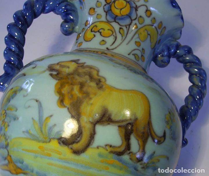 Antigüedades: JARRÓN CERÁMICA DE TALAVERA ( JUAN RUIZ DE LUNA ) - Foto 21 - 116741343