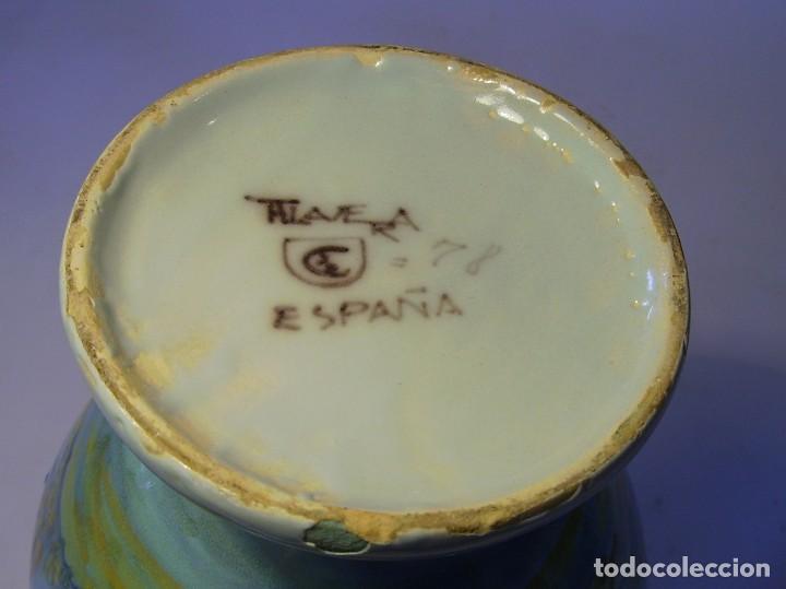 Antigüedades: JARRÓN CERÁMICA DE TALAVERA ( JUAN RUIZ DE LUNA ) - Foto 22 - 116741343