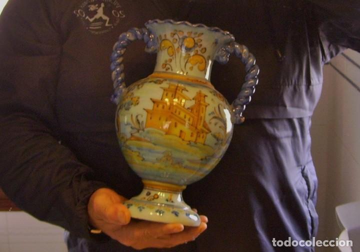 Antigüedades: JARRÓN CERÁMICA DE TALAVERA ( JUAN RUIZ DE LUNA ) - Foto 23 - 116741343