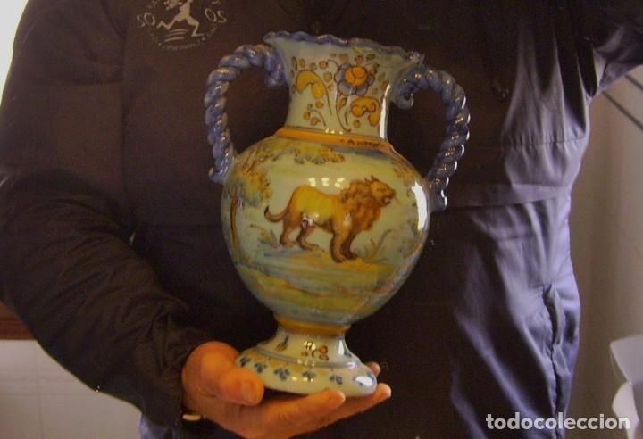 Antigüedades: JARRÓN CERÁMICA DE TALAVERA ( JUAN RUIZ DE LUNA ) - Foto 24 - 116741343