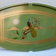 Antigüedades: BANDEJA DE MADERA.ART DECO-. Lote 116743647