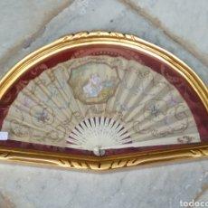 Antigüedades: ABANICO SIGLO XIX CON ABANIQUERA. Lote 116748300
