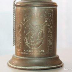 Antigüedades: ANTIGUO QUINQUÉ CLAMFOR LAMPE, BRONCE, 18 CM DE ALTO Y 8 CM DE DIÁMETRO. Lote 116750831