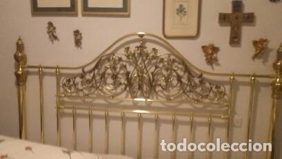 Antigüedades: CABECERO DE BRONCE 2 METROS - Foto 2 - 116754999