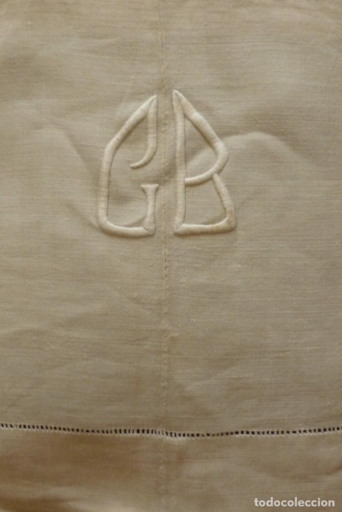 Antigua Sábana De Lino Con Costura Central E In