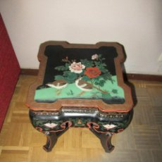 Antigüedades: MESA CHINADA LAQUEADA , ROSSETA FERRARI. Lote 116756579