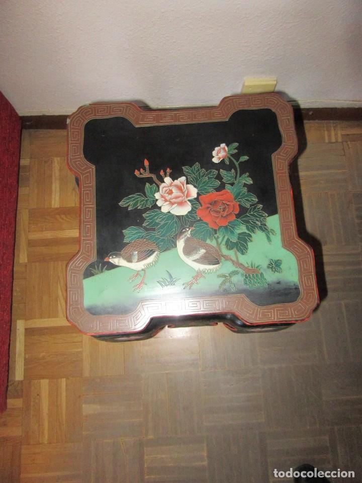 Antigüedades: MESA CHINADA LAQUEADA , ROSSETA FERRARI - Foto 2 - 116756579