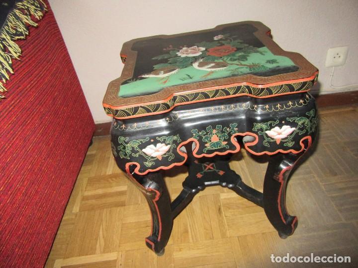 Antigüedades: MESA CHINADA LAQUEADA , ROSSETA FERRARI - Foto 3 - 116756579