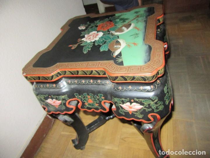 Antigüedades: MESA CHINADA LAQUEADA , ROSSETA FERRARI - Foto 4 - 116756579