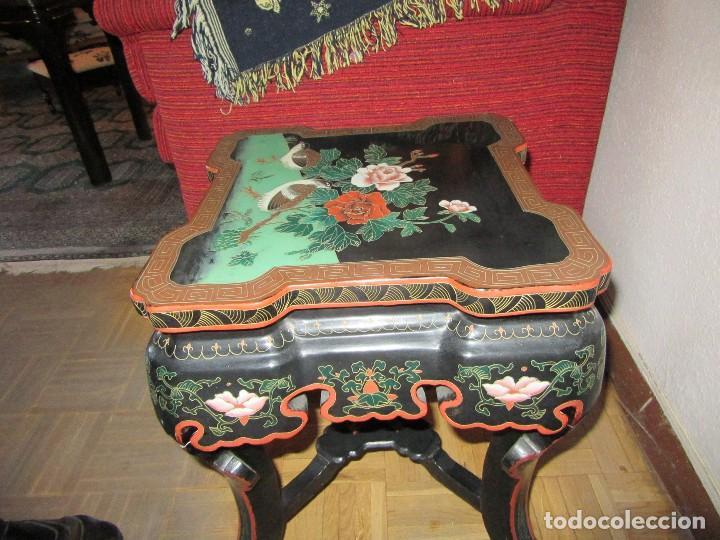 Antigüedades: MESA CHINADA LAQUEADA , ROSSETA FERRARI - Foto 5 - 116756579