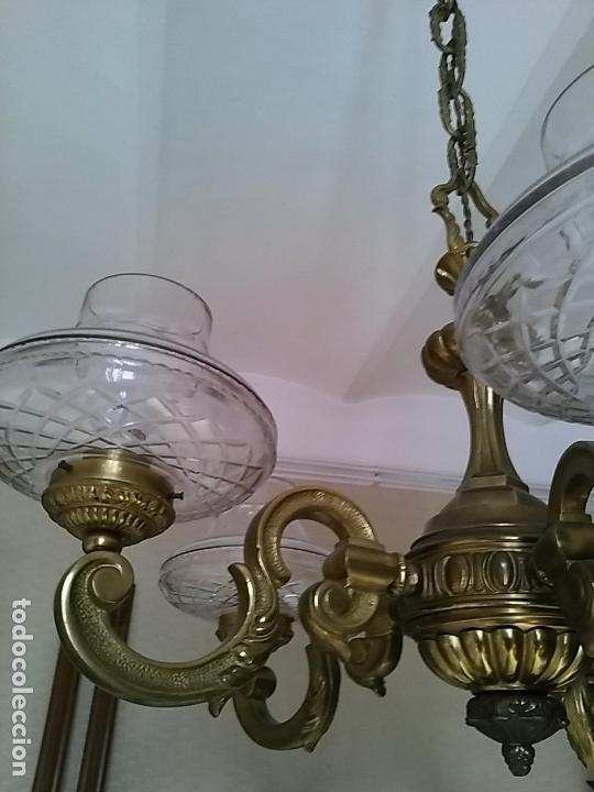Antigüedades: Lámpara metálica de techo . Recogida en Barcelona. - Foto 4 - 116351799