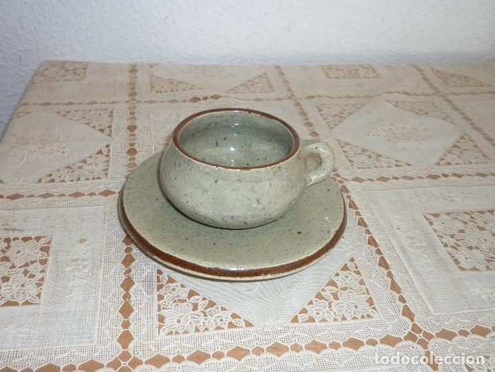 Antigüedades: ARTESANAL, ANTIGUO JUEGO DE CAFE DE CERAMICA LA BISBAL DE ALFARERIA APARICIO DE DISEÑO AÑO 80 FIRMAD - Foto 4 - 116668647