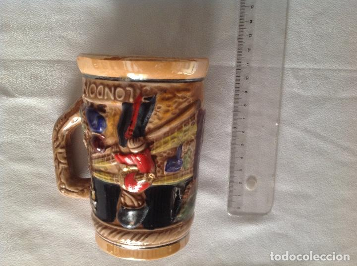 Antigüedades: JARRA DE CERAMICA CON RELIEVE JAPONESA - Foto 3 - 116781403