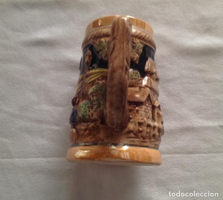 Antigüedades: JARRA DE CERAMICA CON RELIEVE JAPONESA - Foto 6 - 116781403