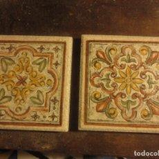 Antigüedades: LOTE DE DOS BELLOS AZULEJOS PEQUEÑOS ESPAÑOLES. Lote 116787647