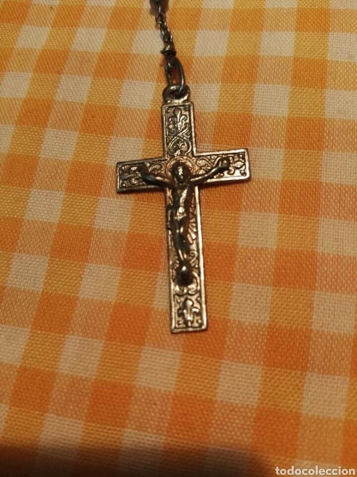 Antigüedades: ROSARIO DE METAL 33 cm - Foto 2 - 116789158